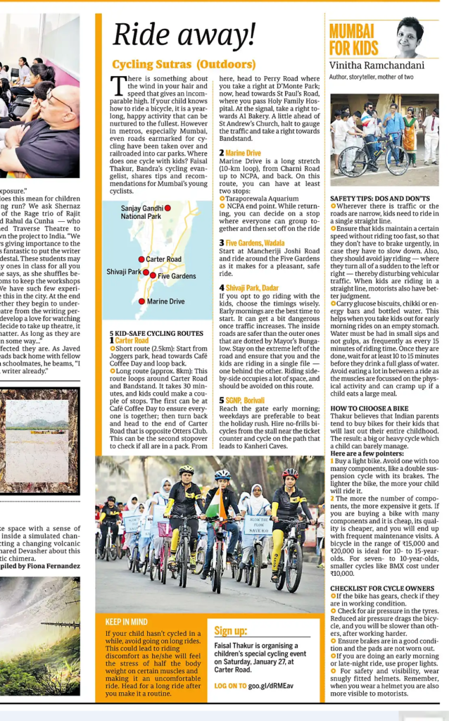 MFK Best Cycling Routes for Kids in Mumbai